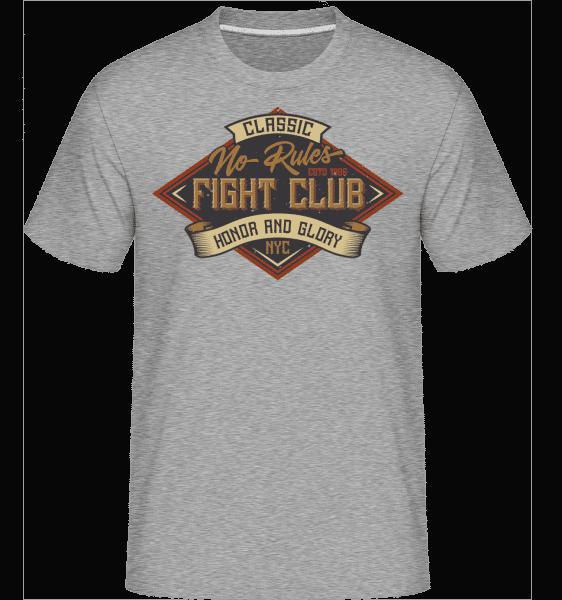 No Rules Fightclub -  Shirtinator Men's T-Shirt - Heather grey - Vorn