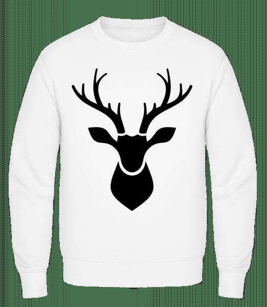 Deer Shadow - Classic Set-In Sweatshirt - White - Vorn