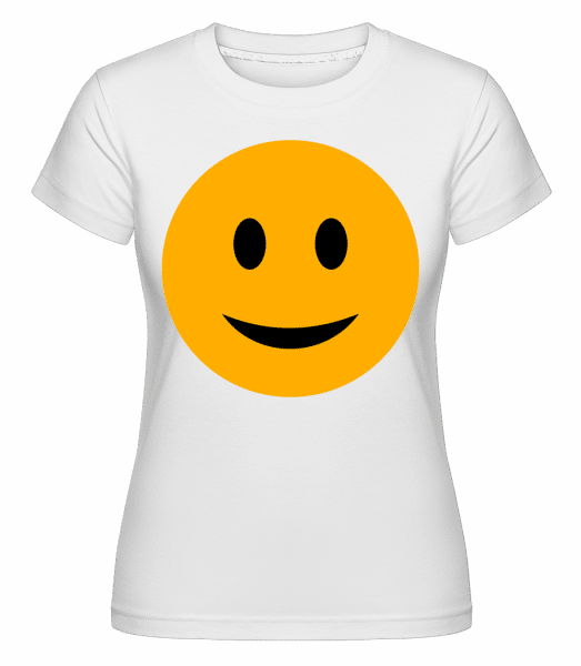 Happy Smiley - Shirtinator Frauen T-Shirt - Weiß - Vorn