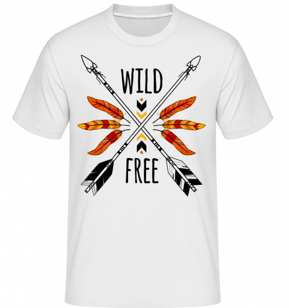 Wild And Free Logo -  Shirtinator Men's T-Shirt - White - Vorn