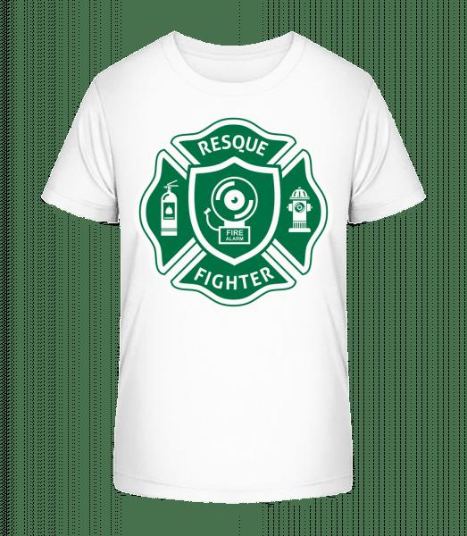 Resque Fighter - Kid's Premium Bio T-Shirt - White - Vorn