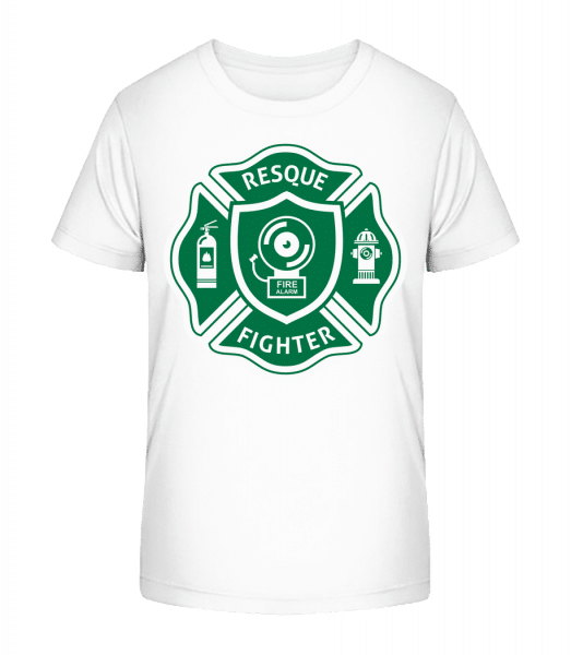 Resque Fighter - Kid's Premium Bio T-Shirt - White - Front