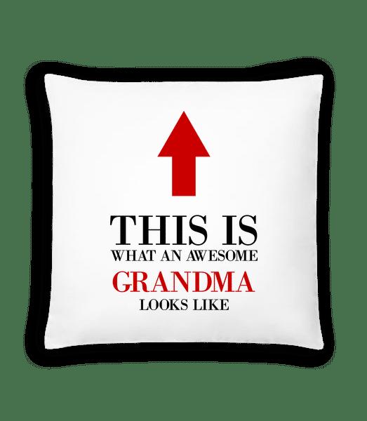 Awesome Grandma - Kissen - Weiß - Vorn