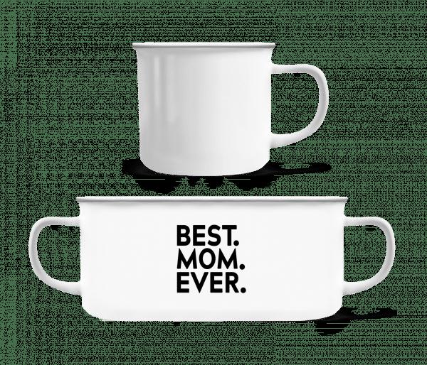 Best Mom Ever - Enamel-cup - White - Vorn