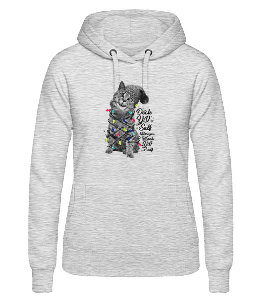 Cat Christmas - Women's hoodie - Heather grey - Vorn