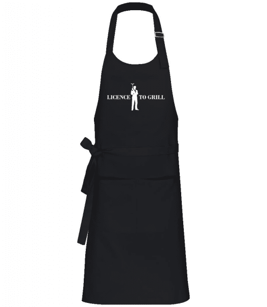 Licence To Grill - Professional Apron - Black - Front