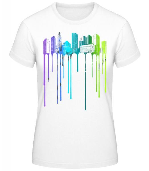 Graffiti Stadt - Frauen Basic T-Shirt - Weiß - Vorne