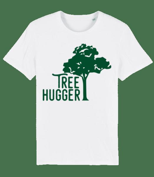 Tree Hugger - Männer Premium Bio T-Shirt Stanley Stella - Weiß - Vorn