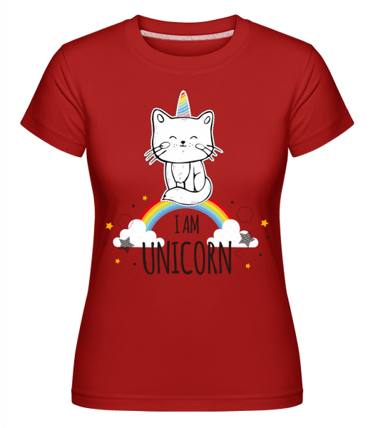 I Am Unicorn - Shirtinator Frauen T-Shirt - Rot - Vorn