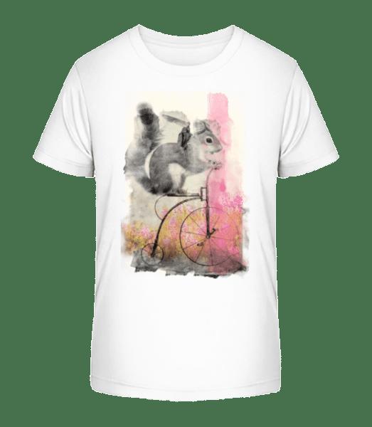 Squirrel Bike - Kid's Premium Bio T-Shirt - White - Vorn