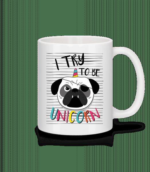 Unicorn Dog - Tasse - Weiß - Vorn