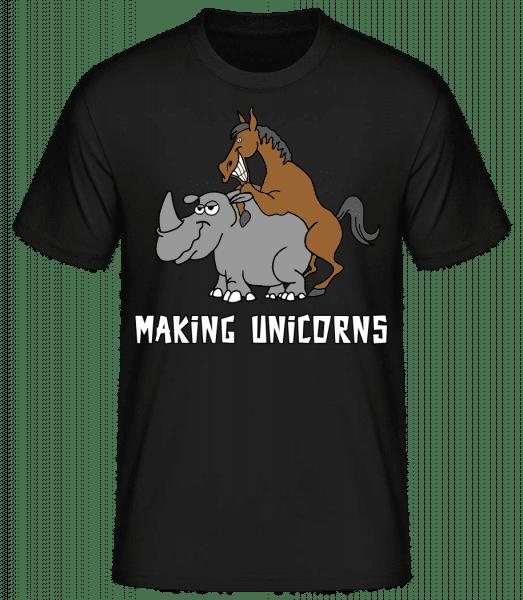 Making Unicorns - Men's Basic T-Shirt - Black - Vorn