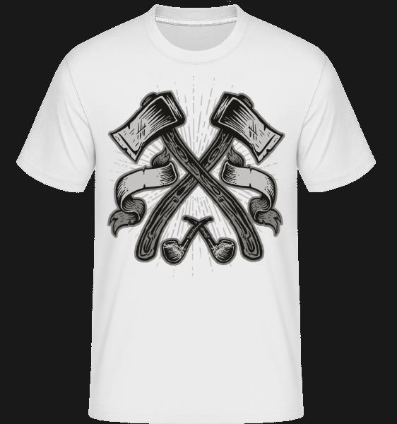 Axes -  Shirtinator Men's T-Shirt - White - Vorn