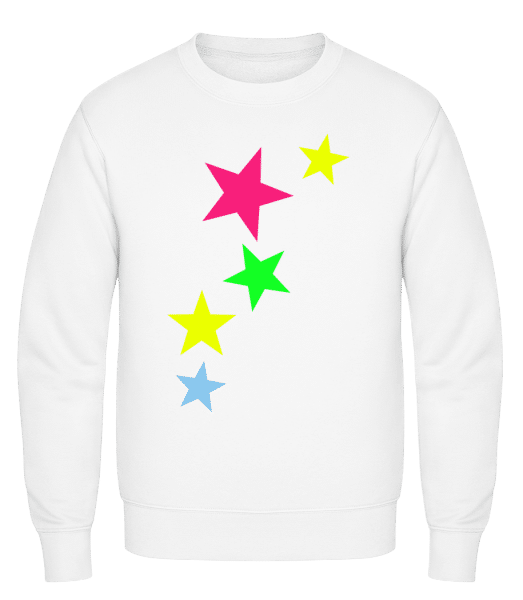 Colorful Stars - Classic Set-In Sweatshirt - White - Vorn