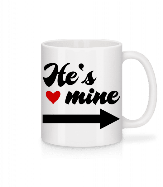 He's Mine - Tasse - Weiß - Vorn