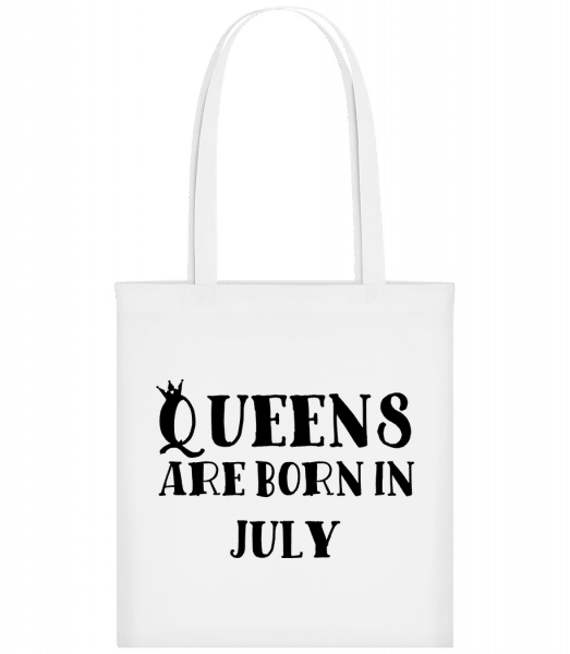 Queens Are Born In July - Taška Carrier - Bílá - Napřed