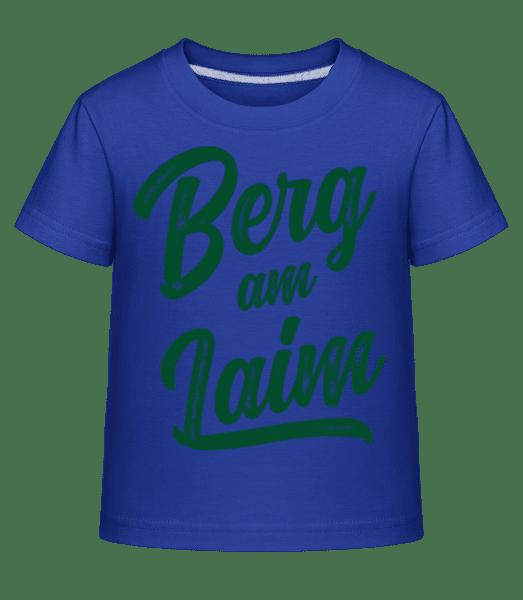 Berg Am Laim Swoosh - Kinder Shirtinator T-Shirt - Royalblau - Vorn