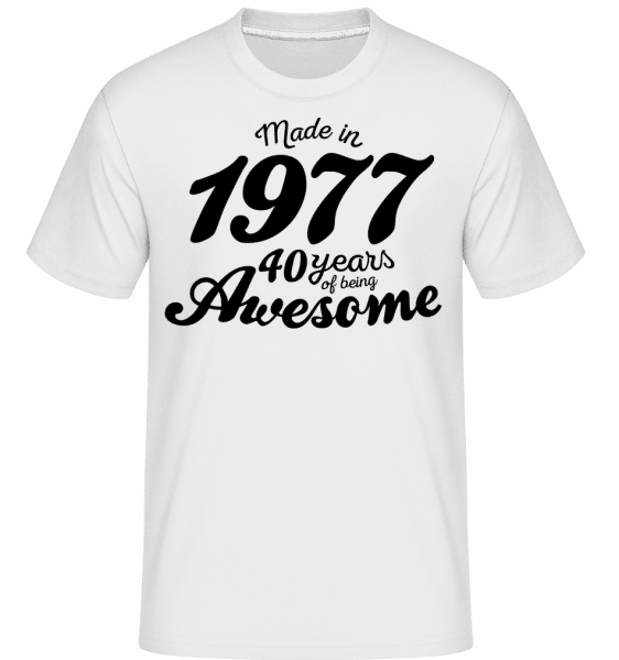 Made In 1977 -  T-Shirt Shirtinator homme - Blanc - Vorn