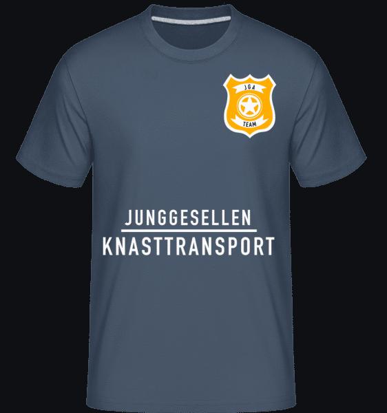 Junggesellen Knasttrabsport - Shirtinator Männer T-Shirt - Denim - Vorn