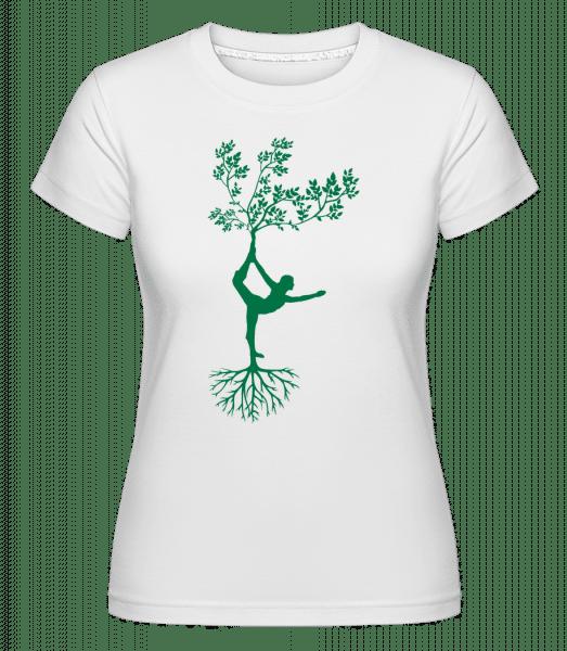 Harmonic Yoga Earth Tree -  Shirtinator Women's T-Shirt - White - Vorn