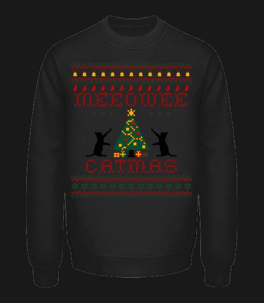 MEEOWEE Catmas - Unisex Sweatshirt - Black - Vorn