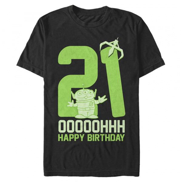 Ooohh Twenty One Rex - Pixar Toy Story 1-3 - Men's T-Shirt - Black - Front