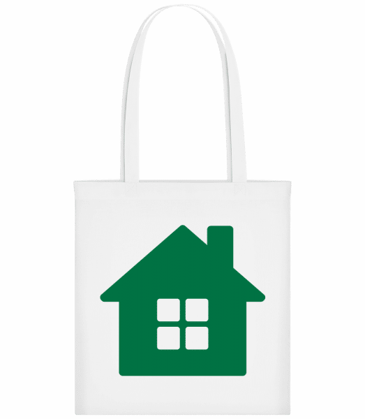 House Icon Green - Carrier Bag - White - Vorn