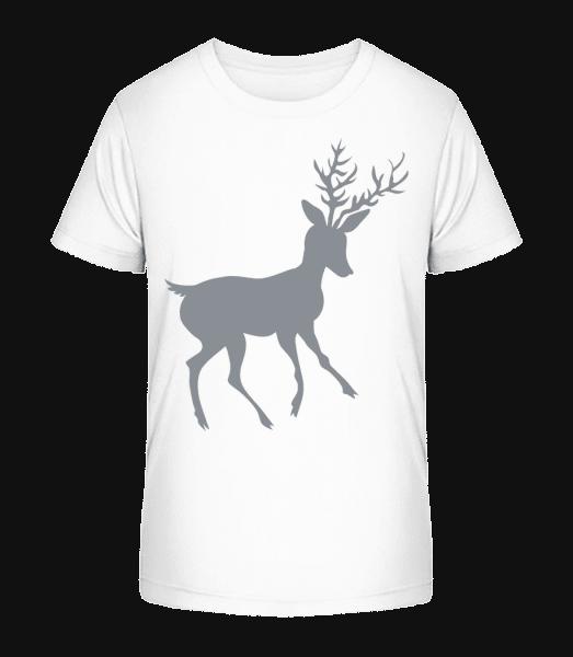 Christmas Reindeer - Kid's Premium Bio T-Shirt - White - Vorn