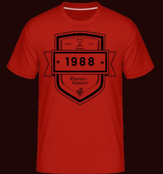 Perfekt Gereift 1988 - Shirtinator Männer T-Shirt - Rot - Vorn