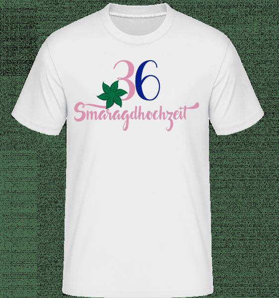 36 Jahre Smaragdhochzeit - Shirtinator Männer T-Shirt - Weiß - Vorn
