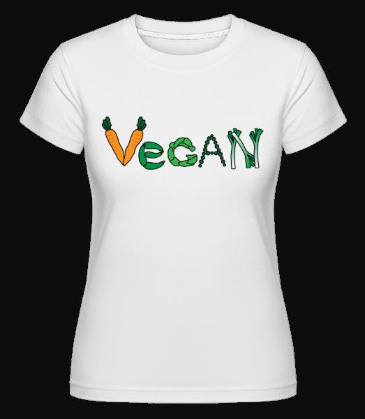 Vegan Légume -  T-shirt Shirtinator femme - Blanc - Vorn