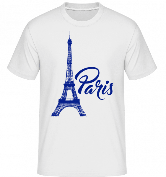 Paris France Blue -  Shirtinator Men's T-Shirt - White - Vorn