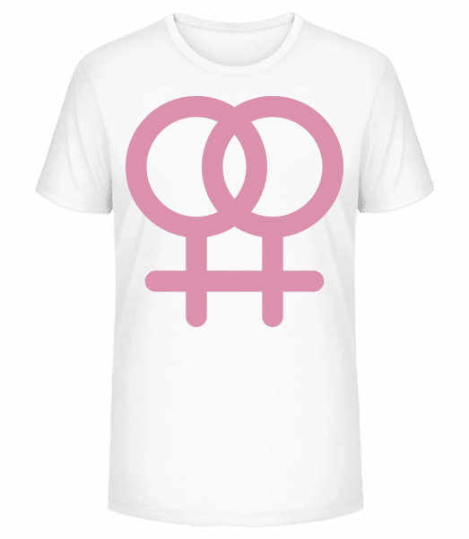 Female Love Icon - Men's Premium Organic T-Shirt Stanley Stella - White - Front