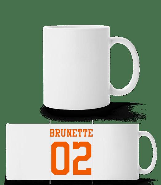Brunette 02 - Panoramatasse - Weiß - Vorn