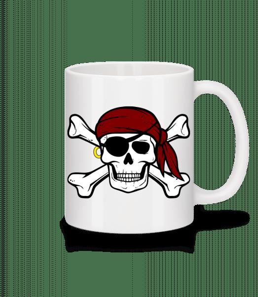 Pirate Tête De Mort - Mug en céramique blanc - Blanc - Devant