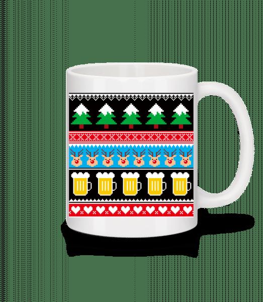 Ugly Christmas Symbols - Mug - White - Vorn