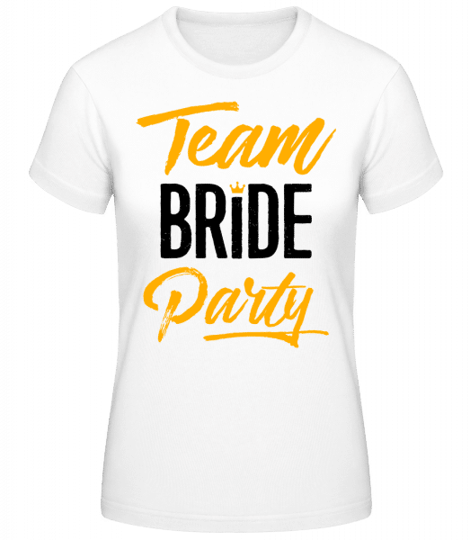 Team Bride Party - Basic T-Shirt - Blanc - Devant