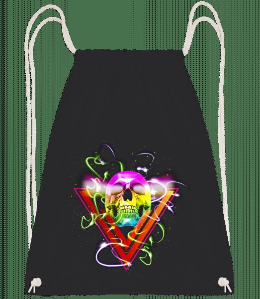 Disco Skull - Drawstring Backpack - Black - Vorn