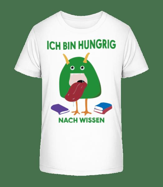 Hungrig Nach Wissen - Kinder Premium Bio T-Shirt - Weiß - Vorne