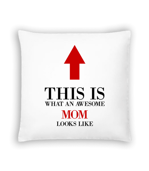 Awesome Mom - Cushion - White - Vorn