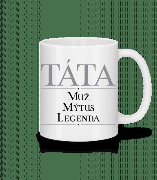 Tata Muz mýtus Legenda - Keramický hrnek - Bílá - Napřed