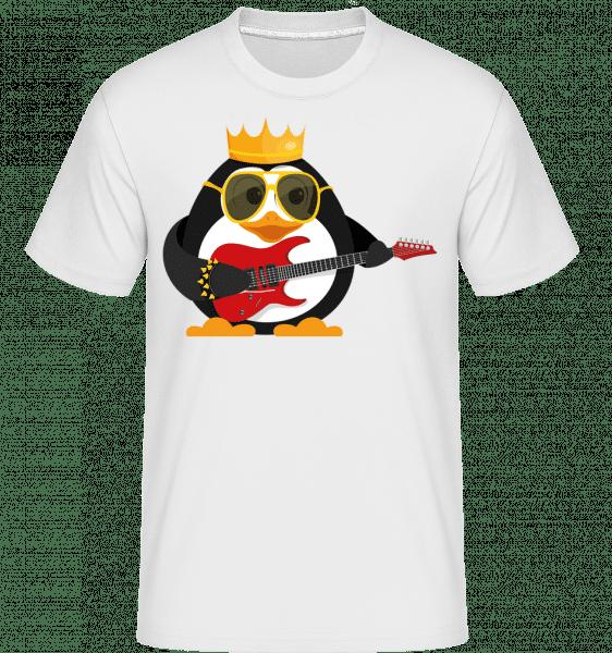 Penguin King Guitar -  Shirtinator tričko pro pány - Bílá - Napřed