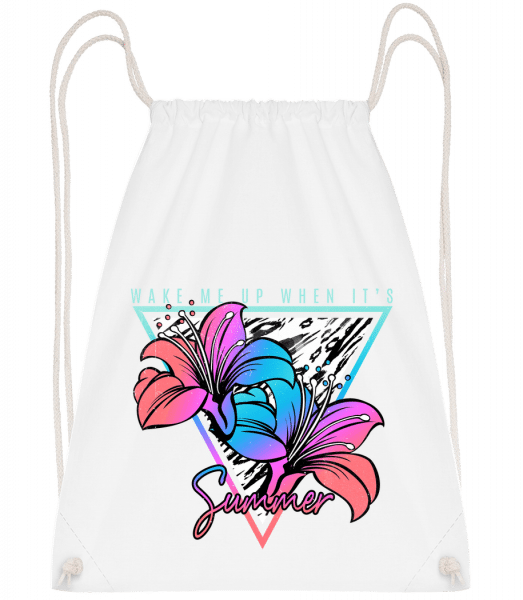 Wake Me Up When It's Summer - Sac à dos Drawstring - Blanc - Vorn