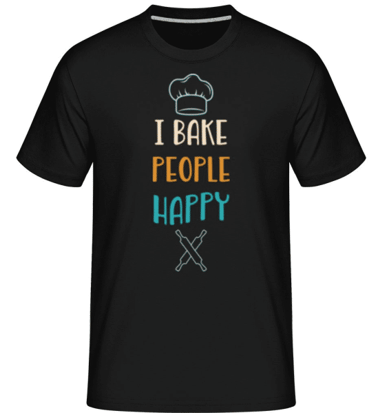 I Bake People Happy -  Shirtinator Men's T-Shirt - Black - Front