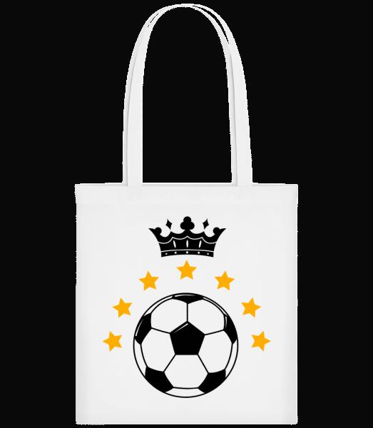 Football Crown - Carrier Bag - White - Vorn