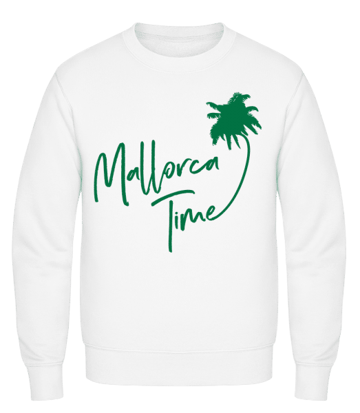 Mallorca Time - Classic Set-In Sweatshirt - White - Vorn
