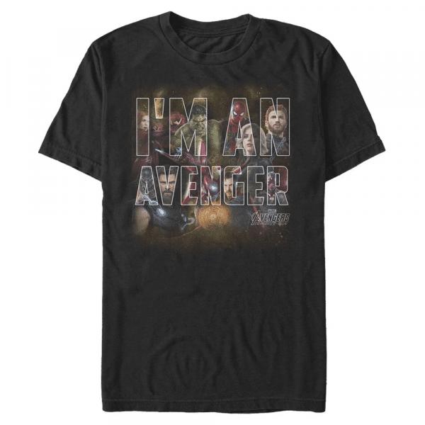 I Am An Avenger Group Shot - Marvel Avengers Infinity War - Men's T-Shirt - Black - Front