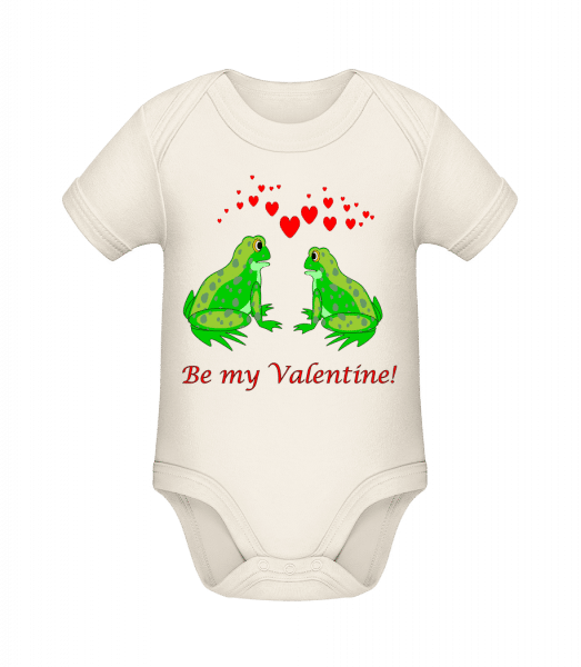 Frogs Be My Valentine - Organic Baby Body - Cream - Vorn