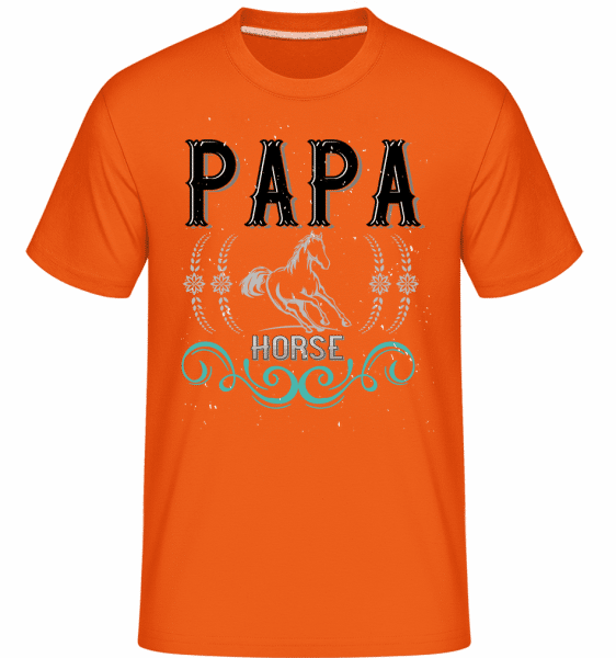 Papa Horse -  Shirtinator Men's T-Shirt - Orange - Vorn