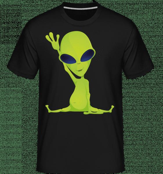 Alien Does Yoga -  Shirtinator Men's T-Shirt - Black - Vorn